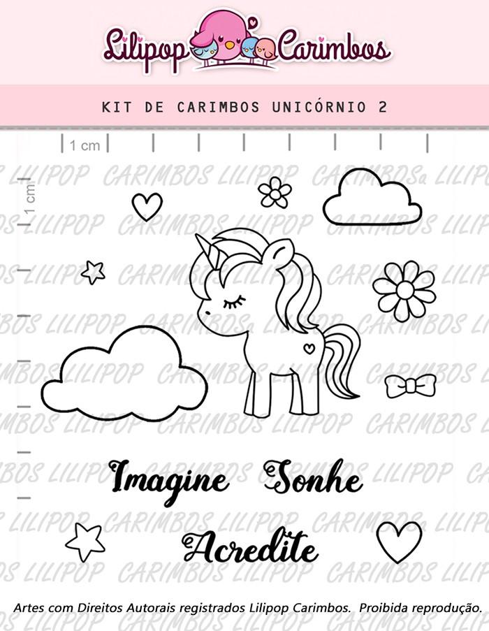 Kit de Carimbos - Unicórnio 2 (LILIPOP CARIMBOS)