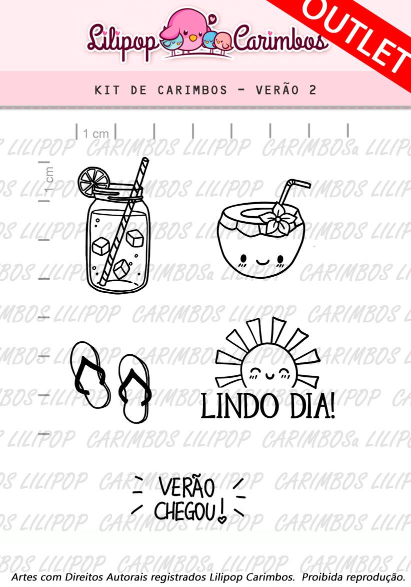 """Cartela de Carimbos - """"Verão 2"""" - LILIPOP CARIMBOS  - Lilipop carimbos"""