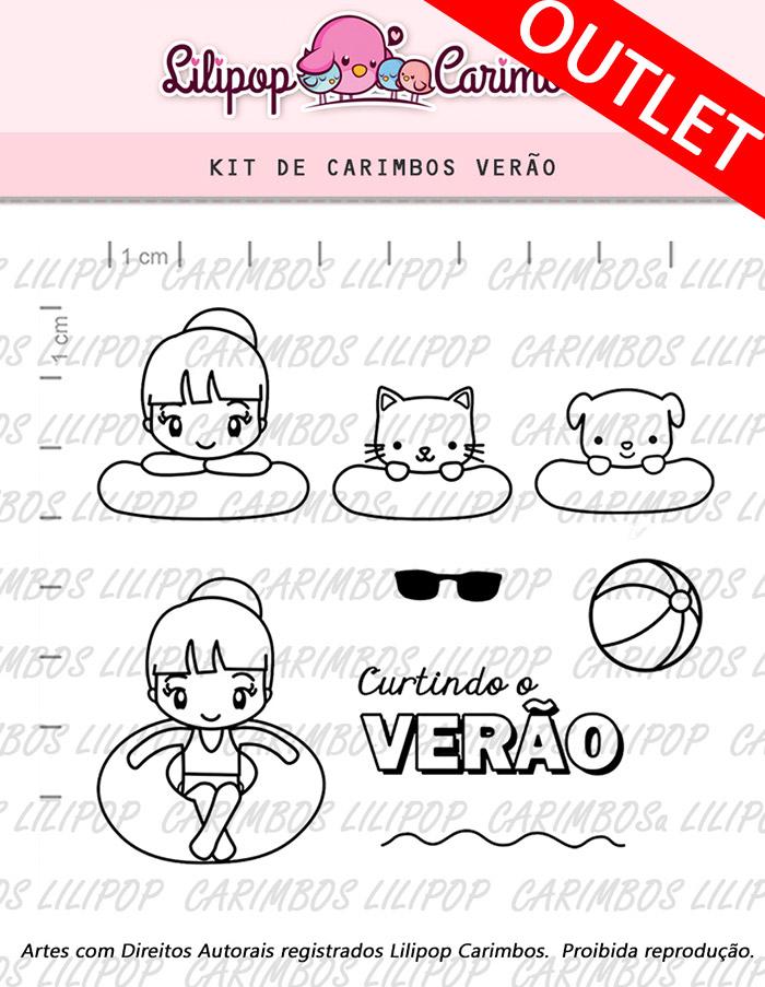 """Cartela de Carimbos - """"Verão"""" - LILIPOP CARIMBOS  - Lilipop carimbos"""