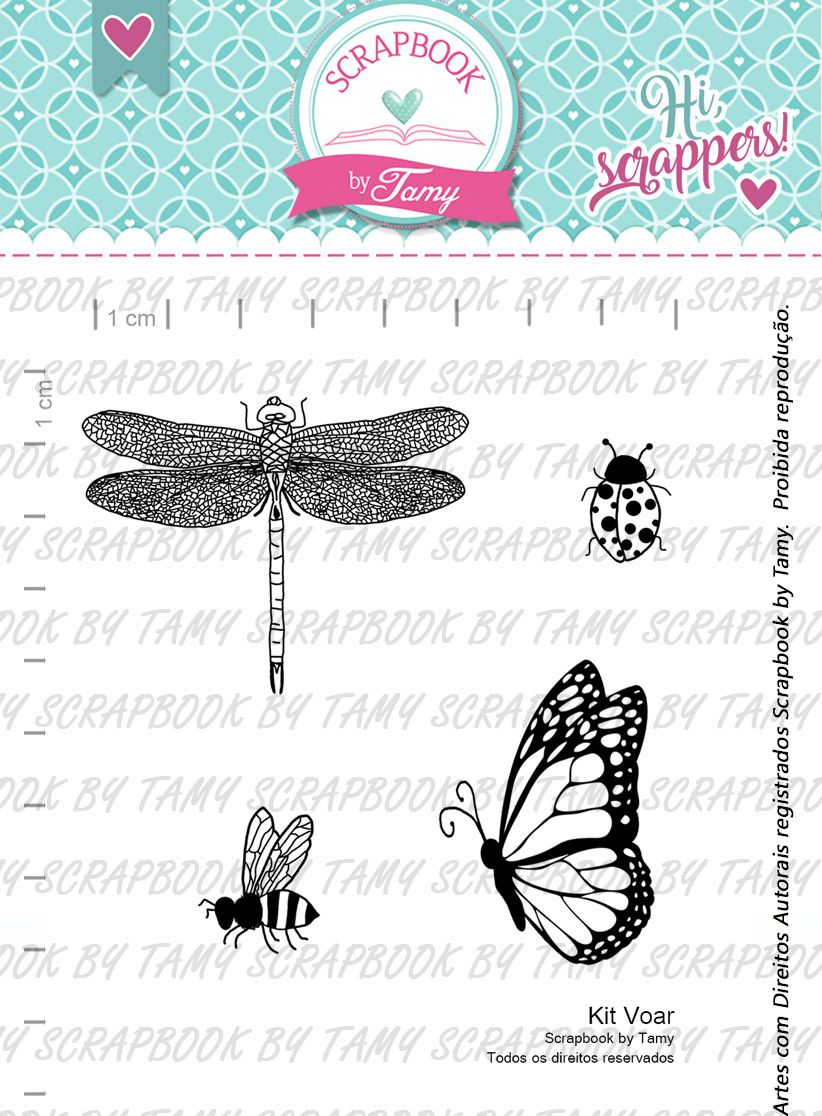 Kit de Carimbos Voar -  Scrapbook by Tamy