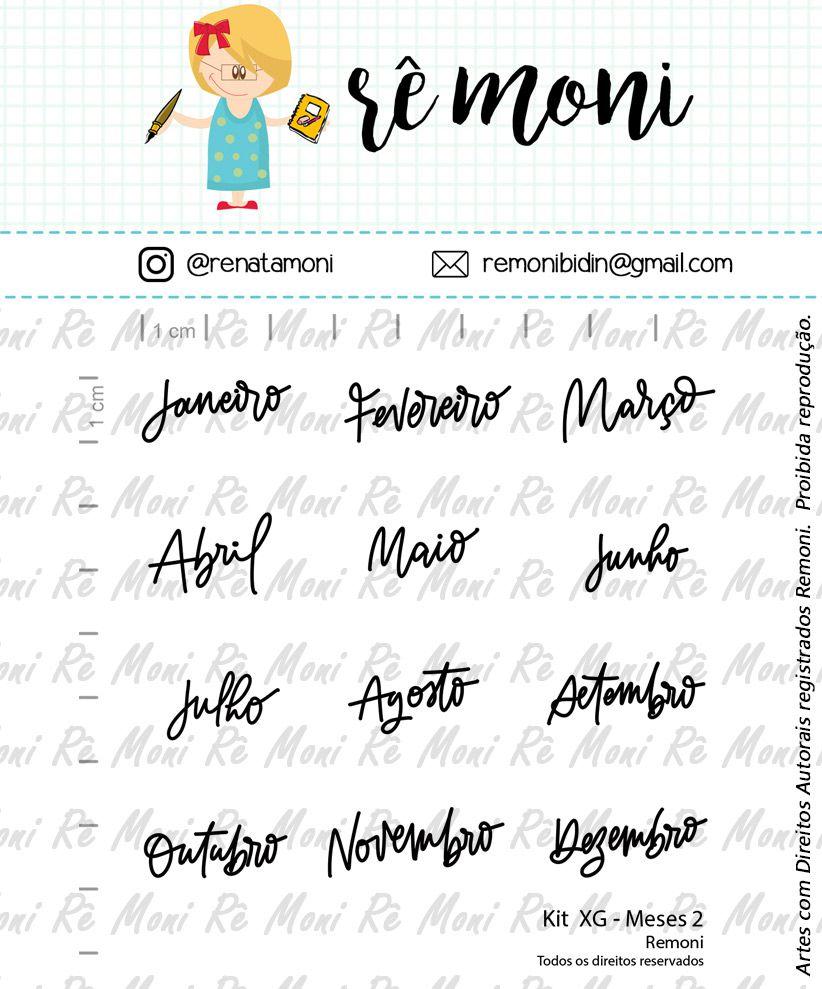 Kit de Carimbos XG - Meses 2 (Remoni)