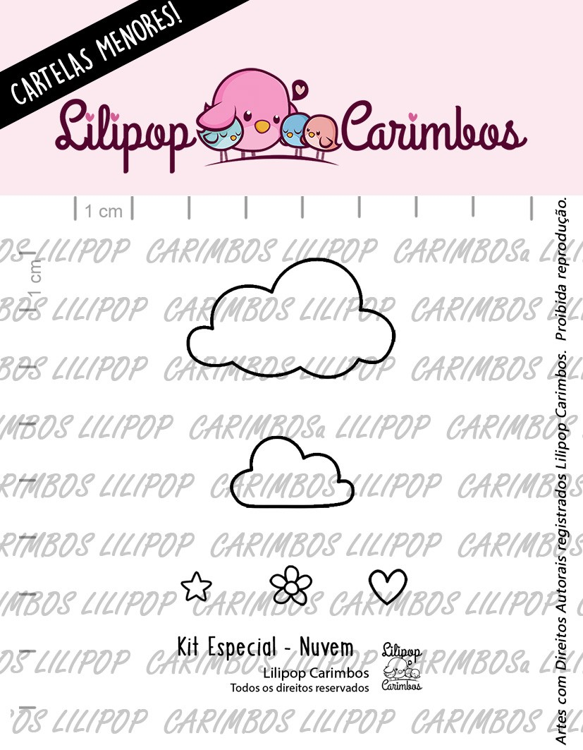 LINHA ESPECIAL PINK FRIDAY  - NUVEM (LILIPOP CARIMBOS)