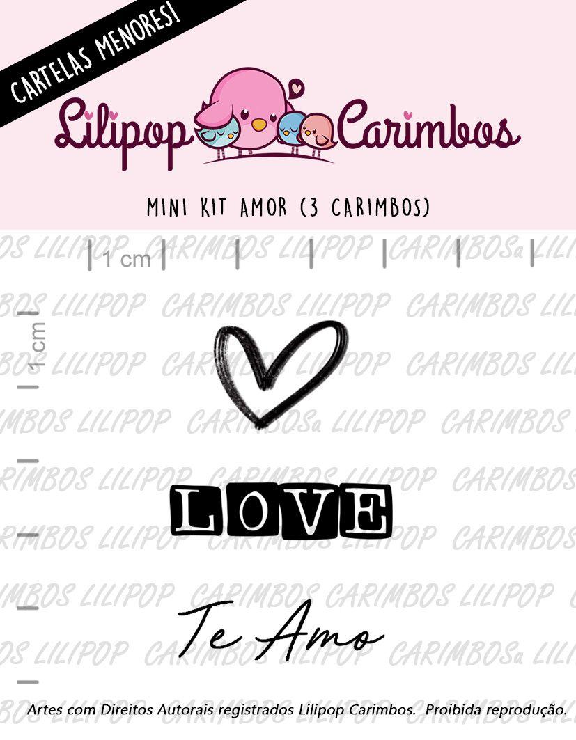 """Cartela de Carimbos Mini - """"Amor"""" - LILIPOP CARIMBOS  - Lilipop carimbos"""
