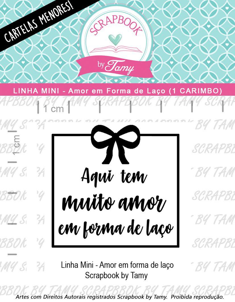 LINHA MINI - Amor em Forma de Laço (Scrapbook by Tamy)