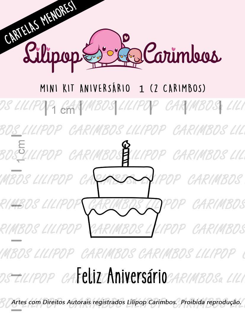 LINHA MINI - Aniversário 1 (LILIPOP CARIMBOS)