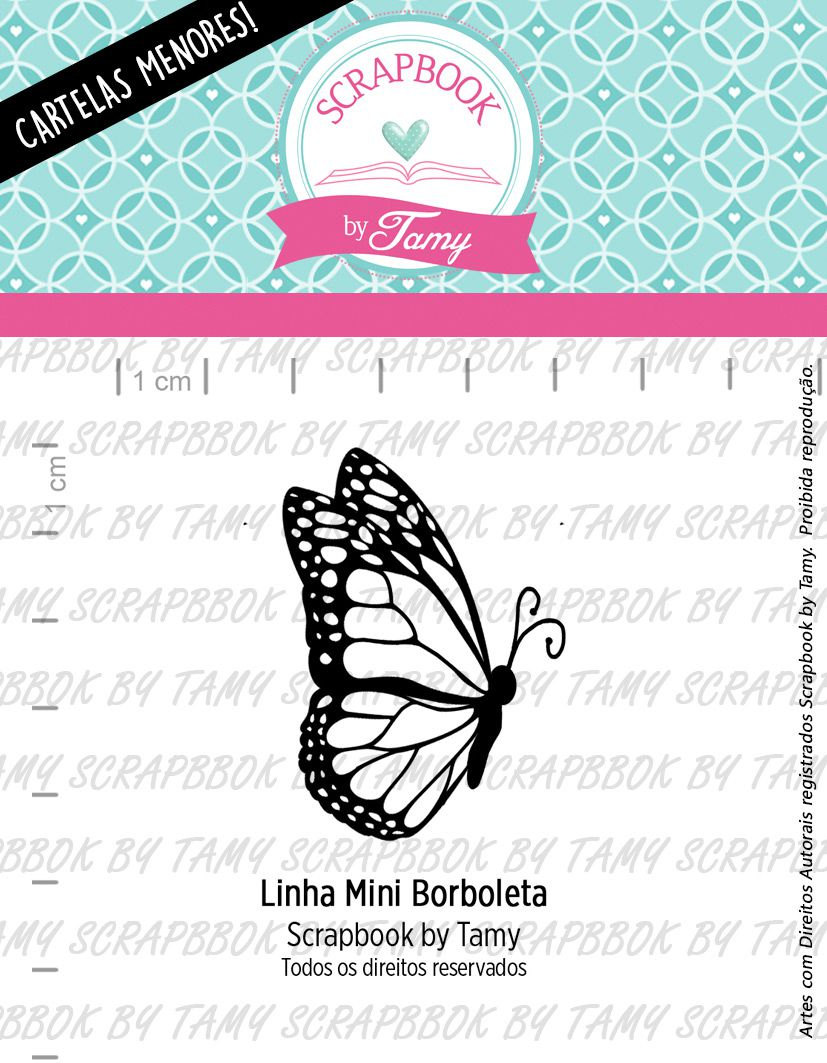 LINHA MINI - Borboleta - Scrapbook by Tamy