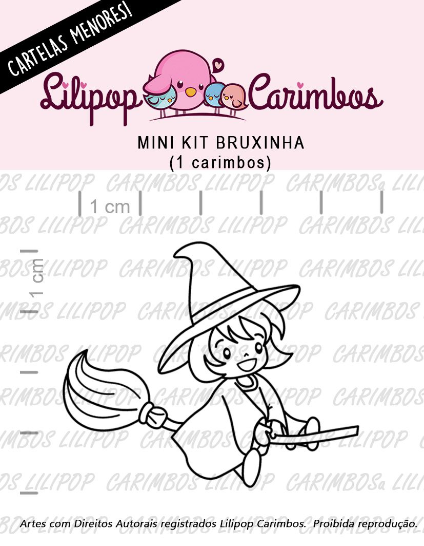 LINHA MINI - bruxinha - Lilipop Carimbos