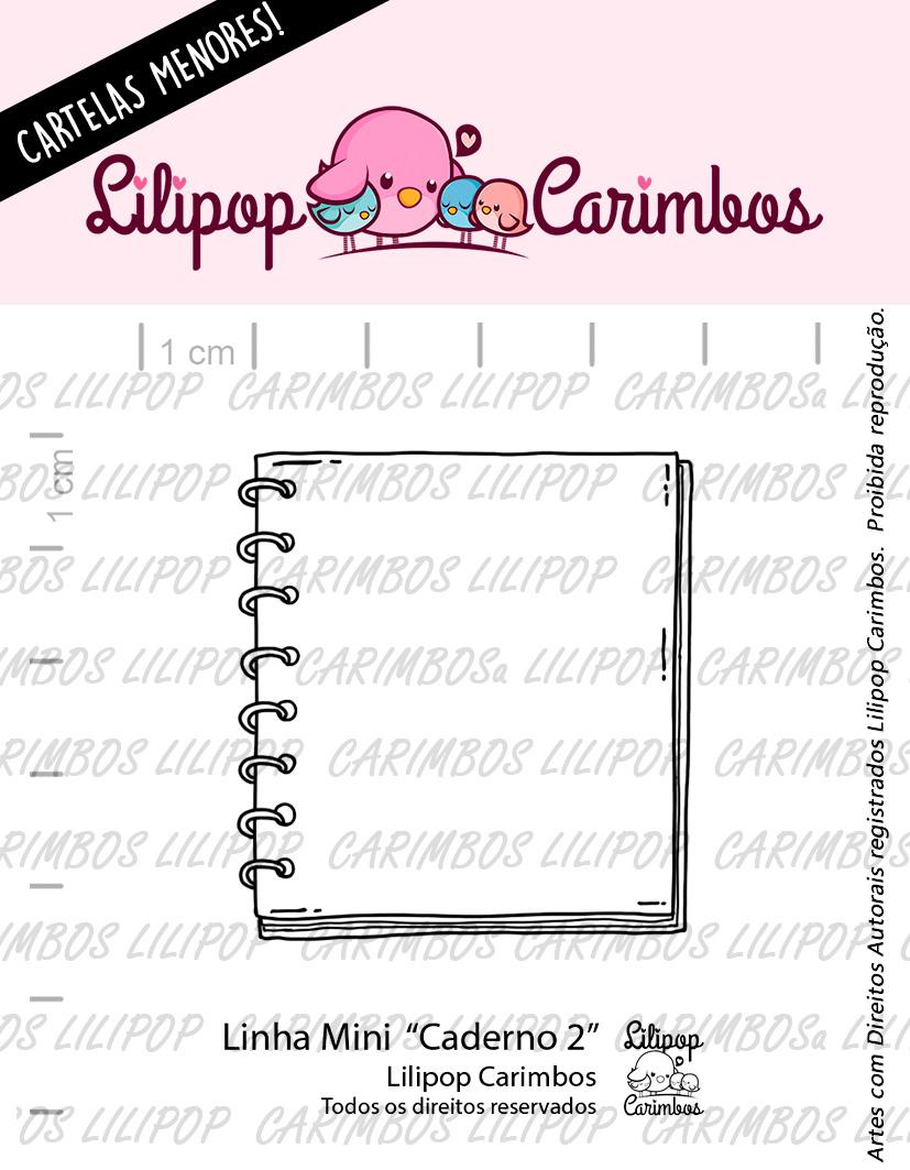 "Cartela de Carimbos Mini - ""Caderno 2"" - Lilipop Carimbos   - Lilipop carimbos"