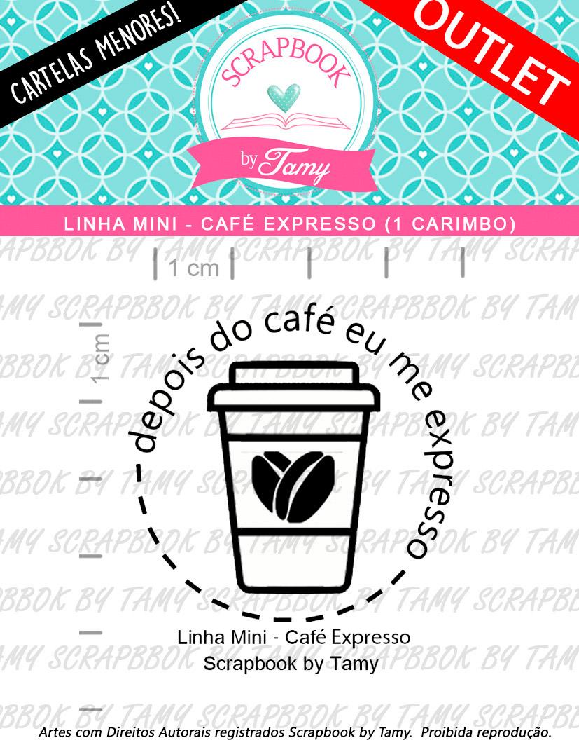 """Cartela de Carimbos Mini - """"Café Expresso"""" - Scrapbook by Tamy  - Lilipop carimbos"""