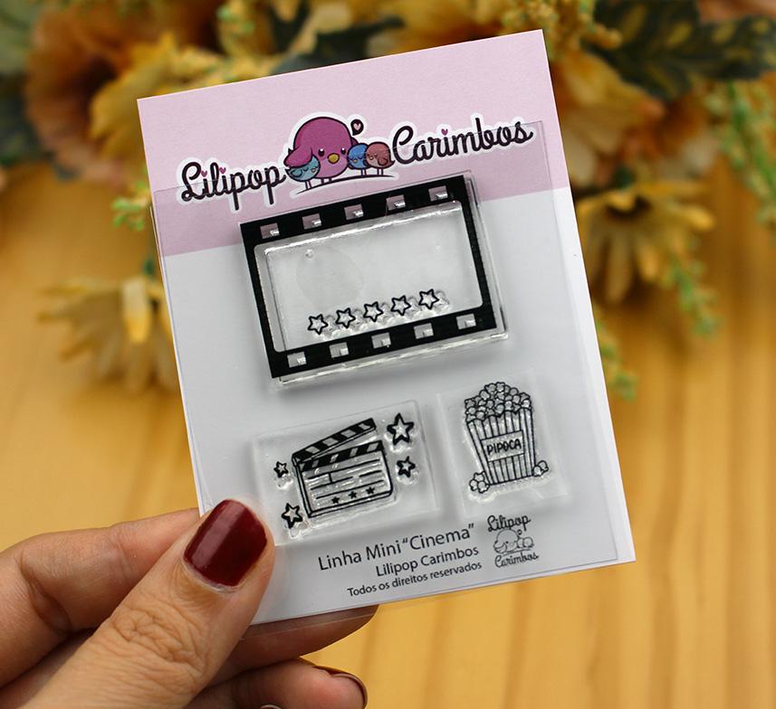 """Cartela de Carimbos Mini - """"Cinema"""" - Lilipop Carimbos  - Lilipop carimbos"""
