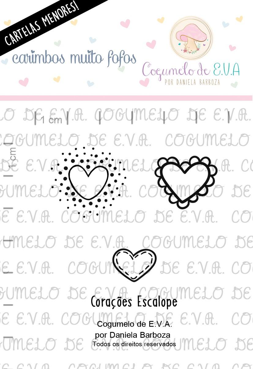 """LINHA MINI - """"Corações Escalope""""   Cogumelo de E.V.A."""