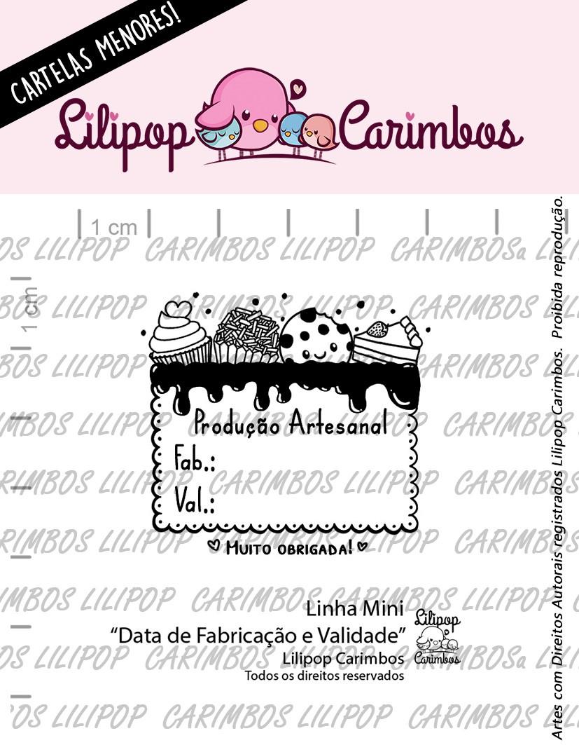 LINHA MINI - Data de Fabricação e Validade - Lilipop Carimbos