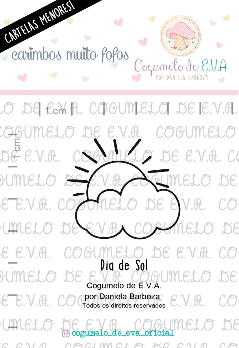 "LINHA MINI - ""Dia de Sol""   Cogumelo de E.V.A."