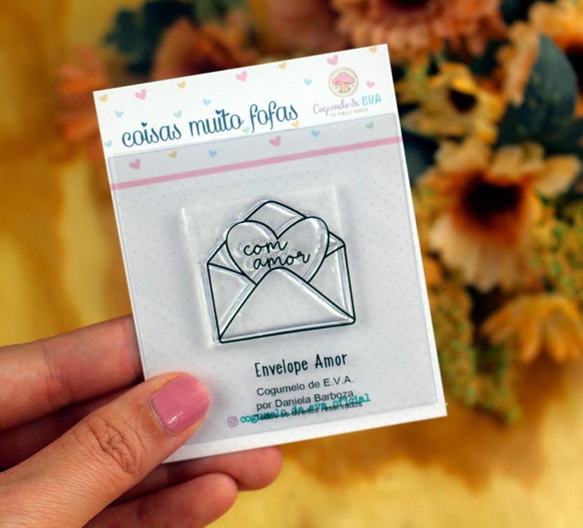 """LINHA MINI - """"Envelope Amor""""   Cogumelo de E.V.A."""