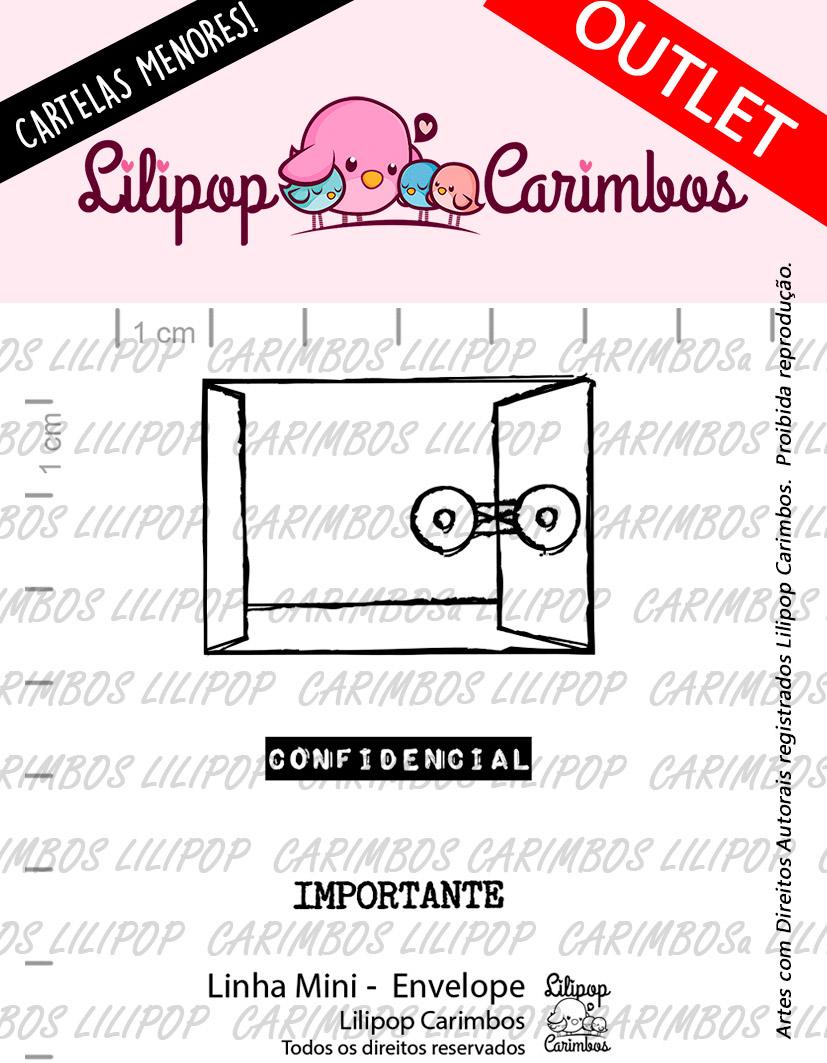 "Cartela de Carimbos Mini - ""Envelope""  - Lilipop Carimbos  - Lilipop carimbos"