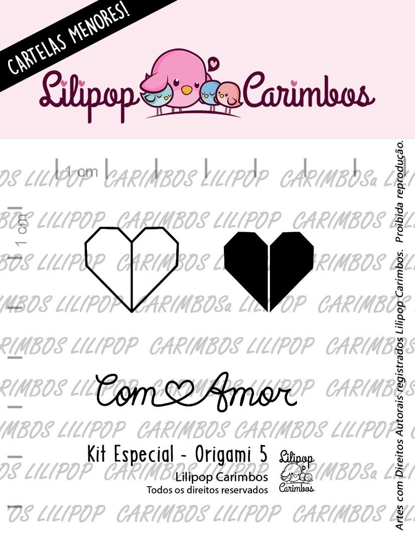 LINHA  MINI ESPECIAL (PINK FRIDAY) ORIGAMI 5 - Lilipop Carimbos