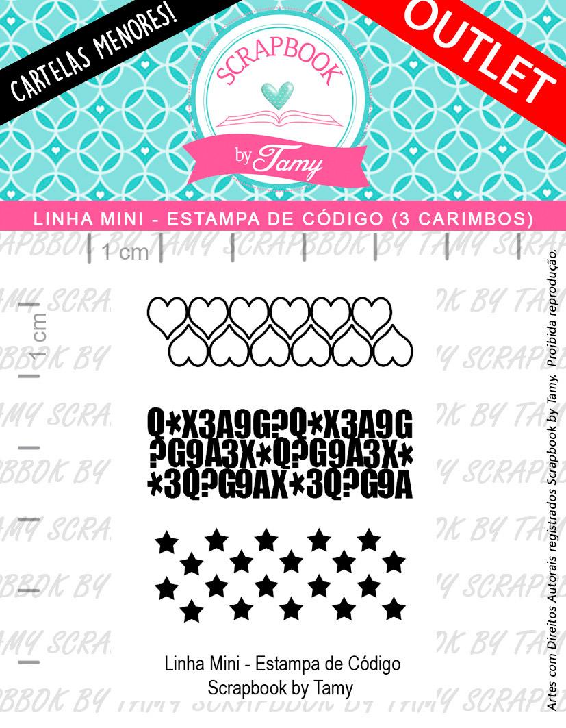 LINHA MINI - Estampa Código (Scrapbook by Tamy)