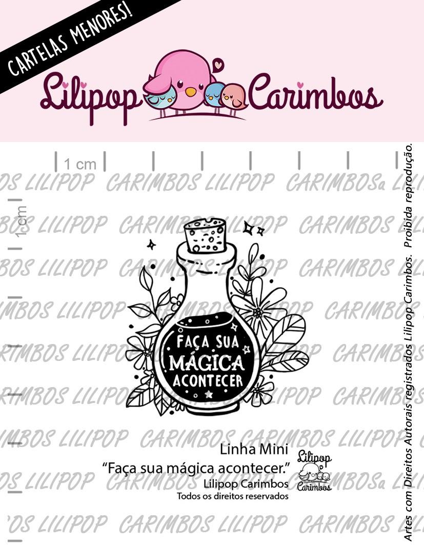 """Cartela de Carimbos Mini - """"Faça sua Mágica Acontecer"""" - Lilipop Carimbos  - Lilipop carimbos"""