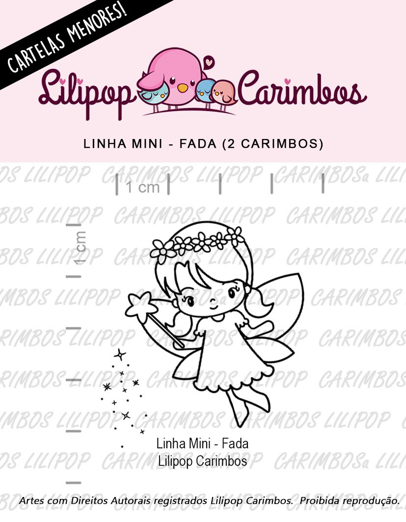 LINHA MINI - Fadinha (LILIPOP CARIMBOS)