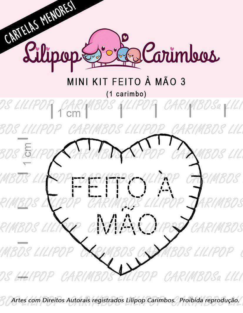 LINHA MINI -  Feito à Mão 3 (feltro)  Lilipop Carimbos