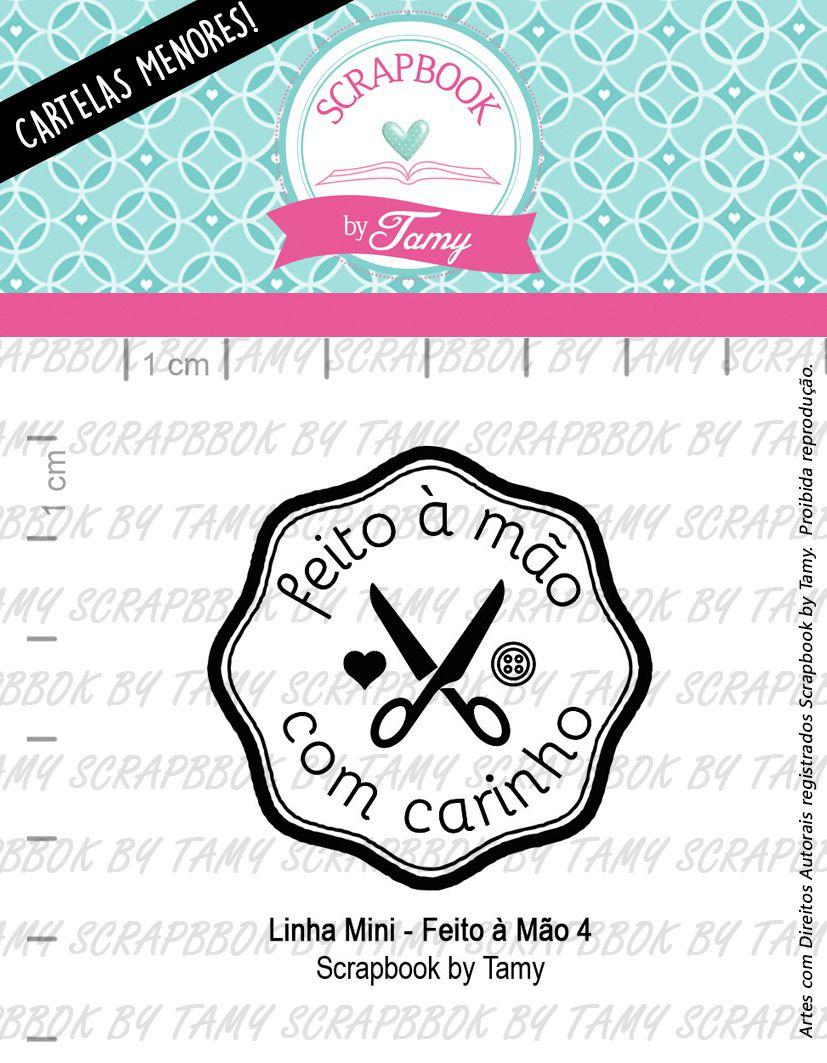 LINHA MINI - Feito à Mão 4 - Scrapbook by Tamy