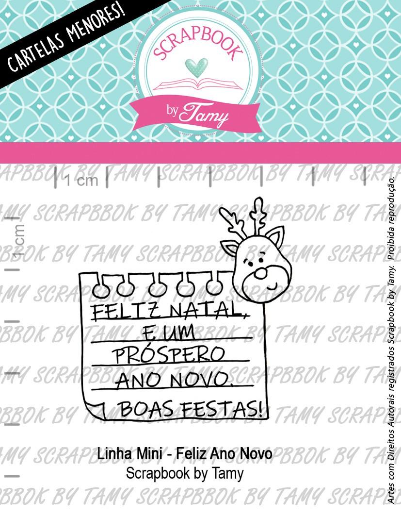 LINHA MINI -  Feliz Ano Novo - Scrapbook by Tamy  (Coleção Natal 2020)
