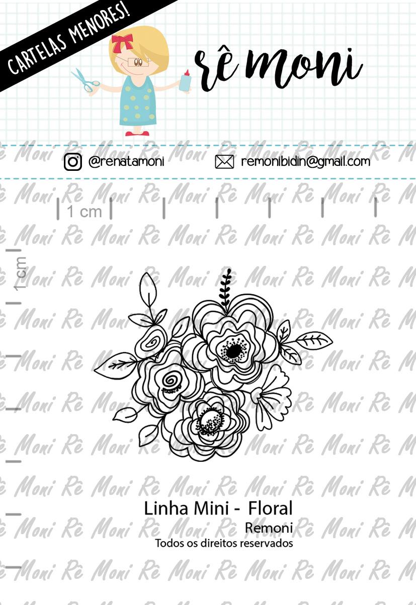 """Cartela de Carimbos Mini - """"Floral"""" - Remoni   - Lilipop carimbos"""