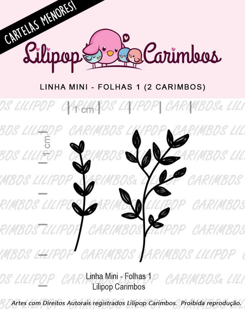 LINHA MINI - Folhas 1 (LILIPOP CARIMBOS)