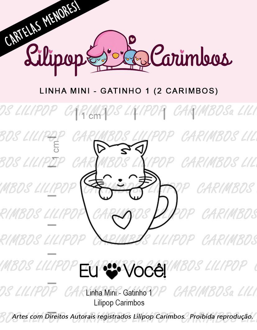 LINHA MINI - Gatinho 1 (LILIPOP CARIMBOS)