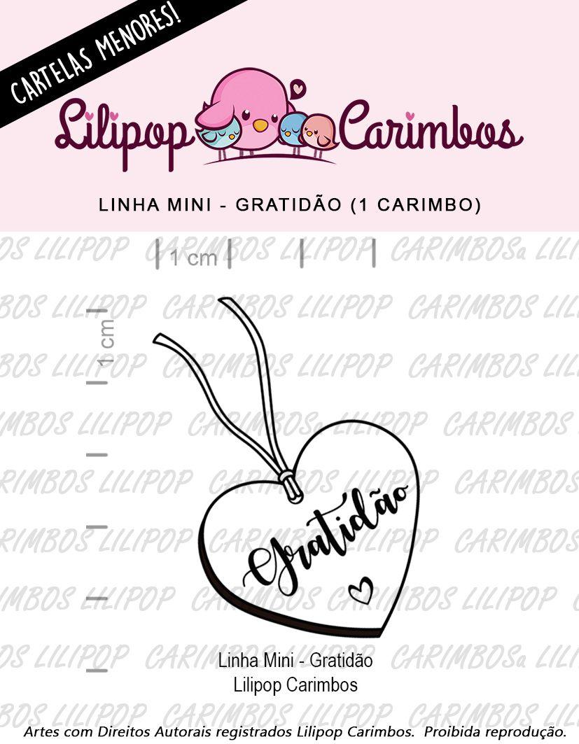 LINHA MINI - Gratidão (LILIPOP CARIMBOS)