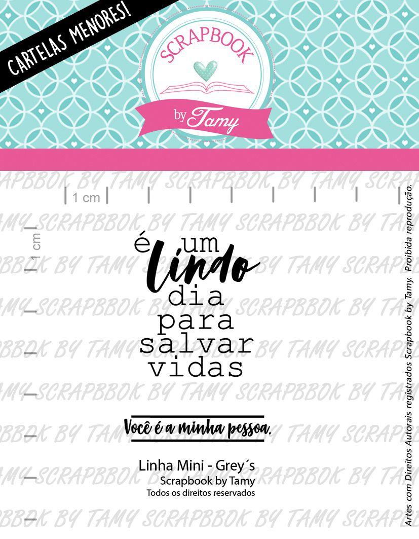 LINHA MINI - Grey's - Scrapbook by Tamy