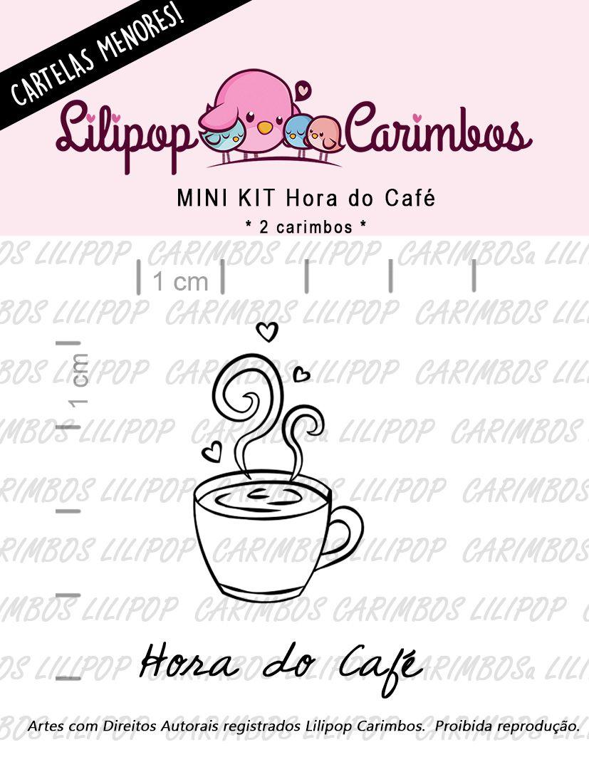 "Cartela de Carimbos Mini - ""Hora do Café"" - Lilipop Carimbos  - Lilipop carimbos"