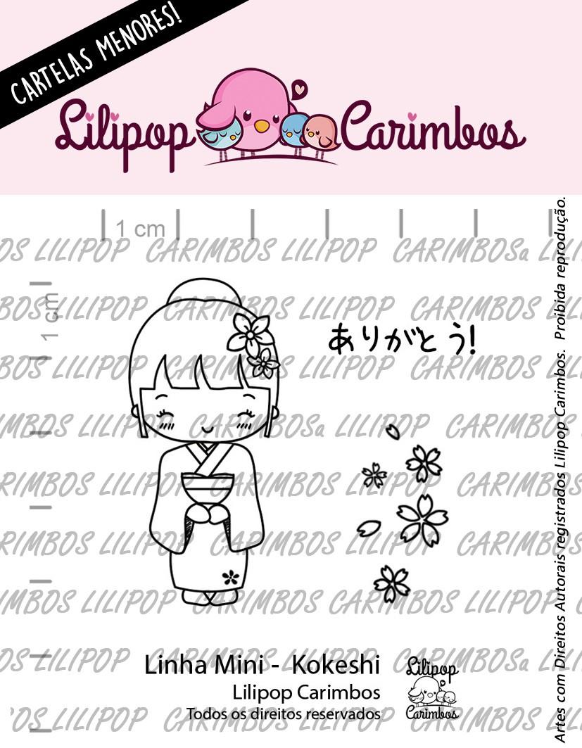 "Cartela de Carimbos Mini - ""Kokeshi"" - Lilipop Carimbos  - Lilipop carimbos"