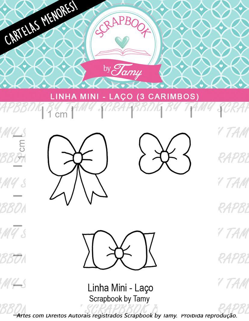 LINHA MINI - Laço (Scrapbook by Tamy)
