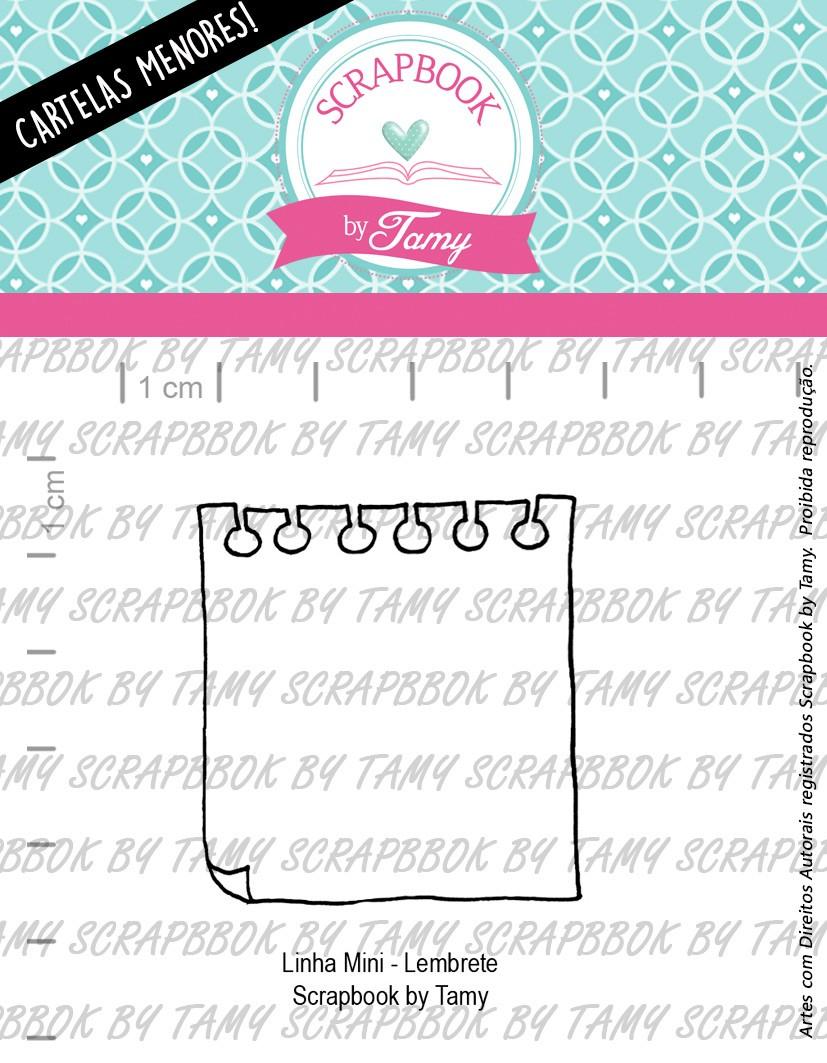 """Cartela de Carimbos Mini - """"Lembrete"""" - Scrapbook by Tamy  - Lilipop carimbos"""