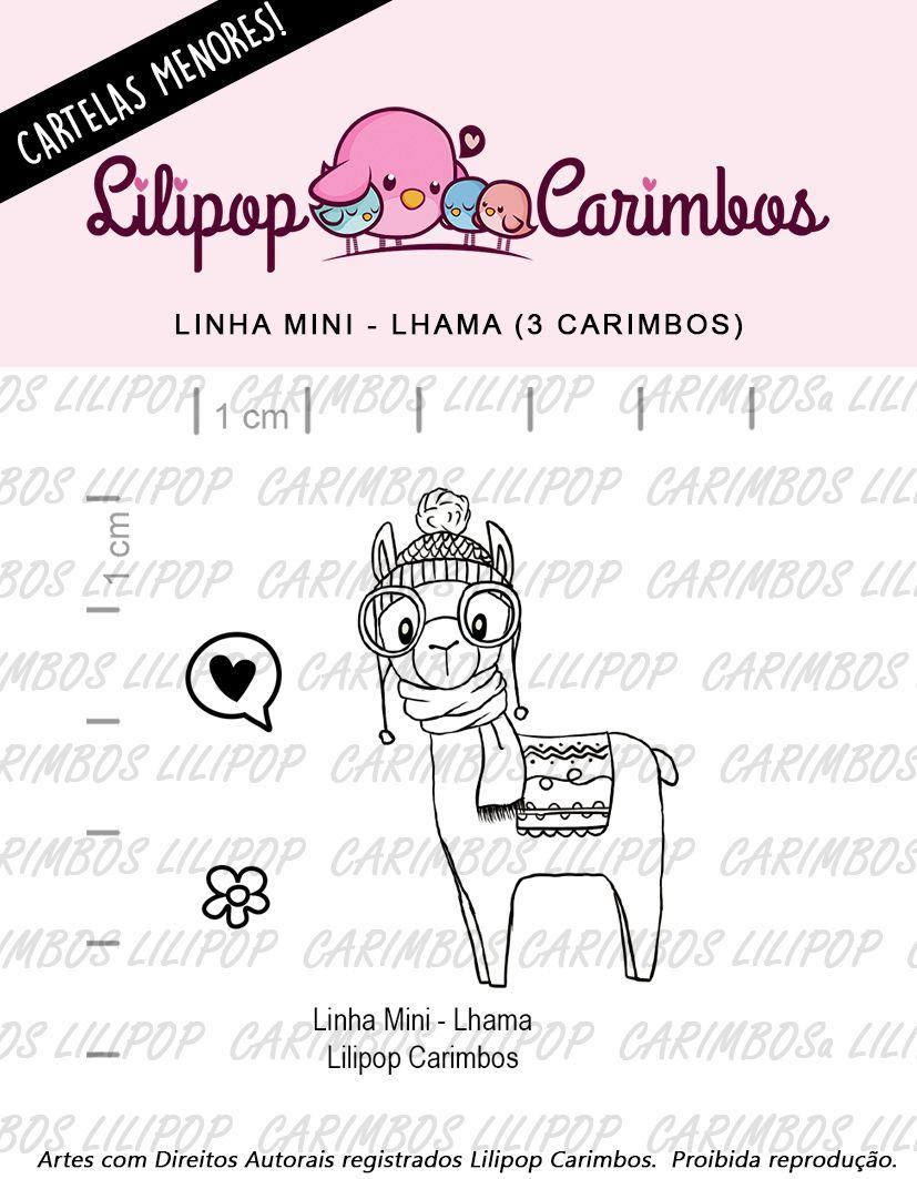 LINHA MINI - Lhama (LILIPOP CARIMBOS)