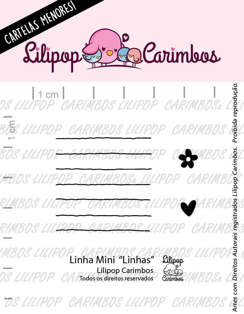 "Cartela de Carimbos Mini - ""Linhas"" - Lilipop Carimbos  - Lilipop carimbos"