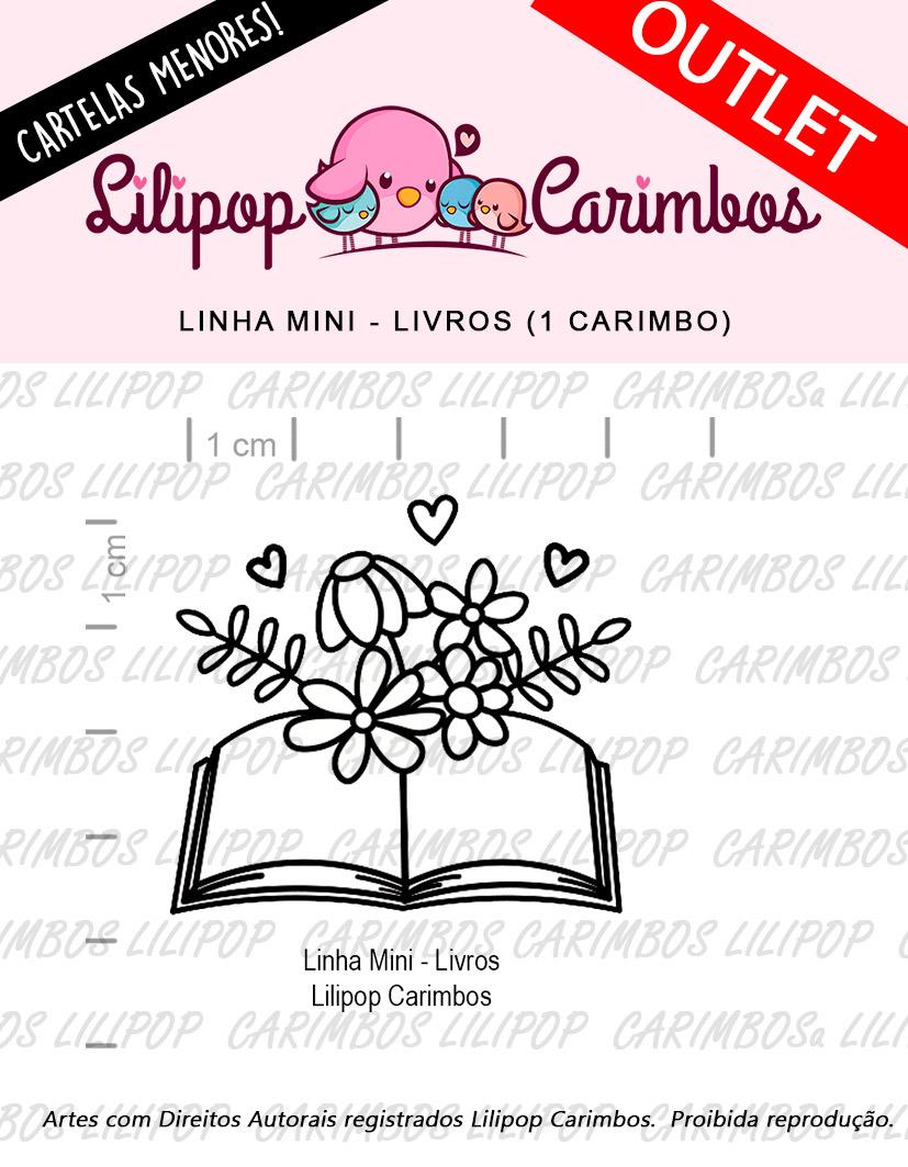 """Cartela de Carimbos Mini - """"Livros"""" - LILIPOP CARIMBOS  - Lilipop carimbos"""