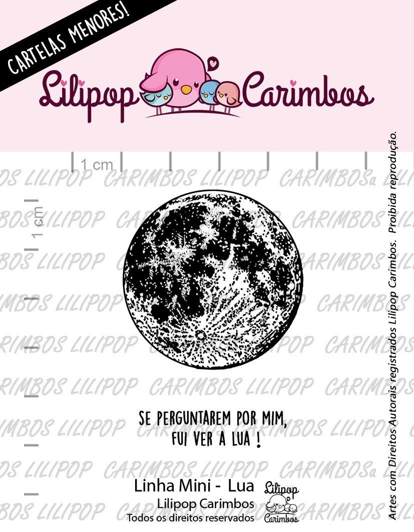 """Cartela de Carimbos Mini - """"Lua""""  - Lilipop Carimbos  - Lilipop carimbos"""