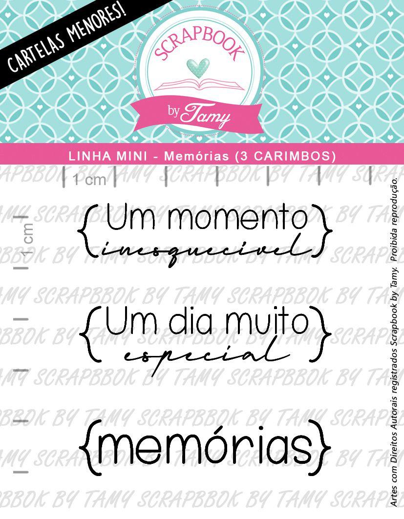 LINHA MINI - Memórias (Scrapbook by Tamy)