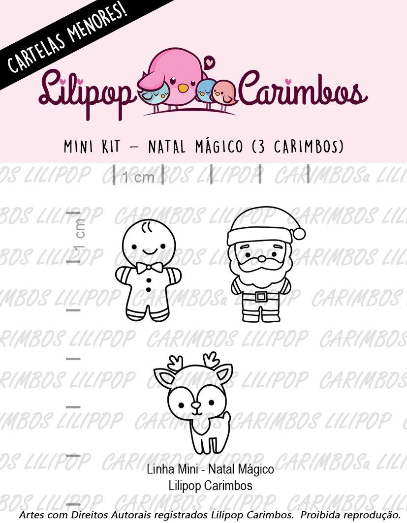 LINHA MINI - Natal Mágico 1 (LILIPOP CARIMBOS)