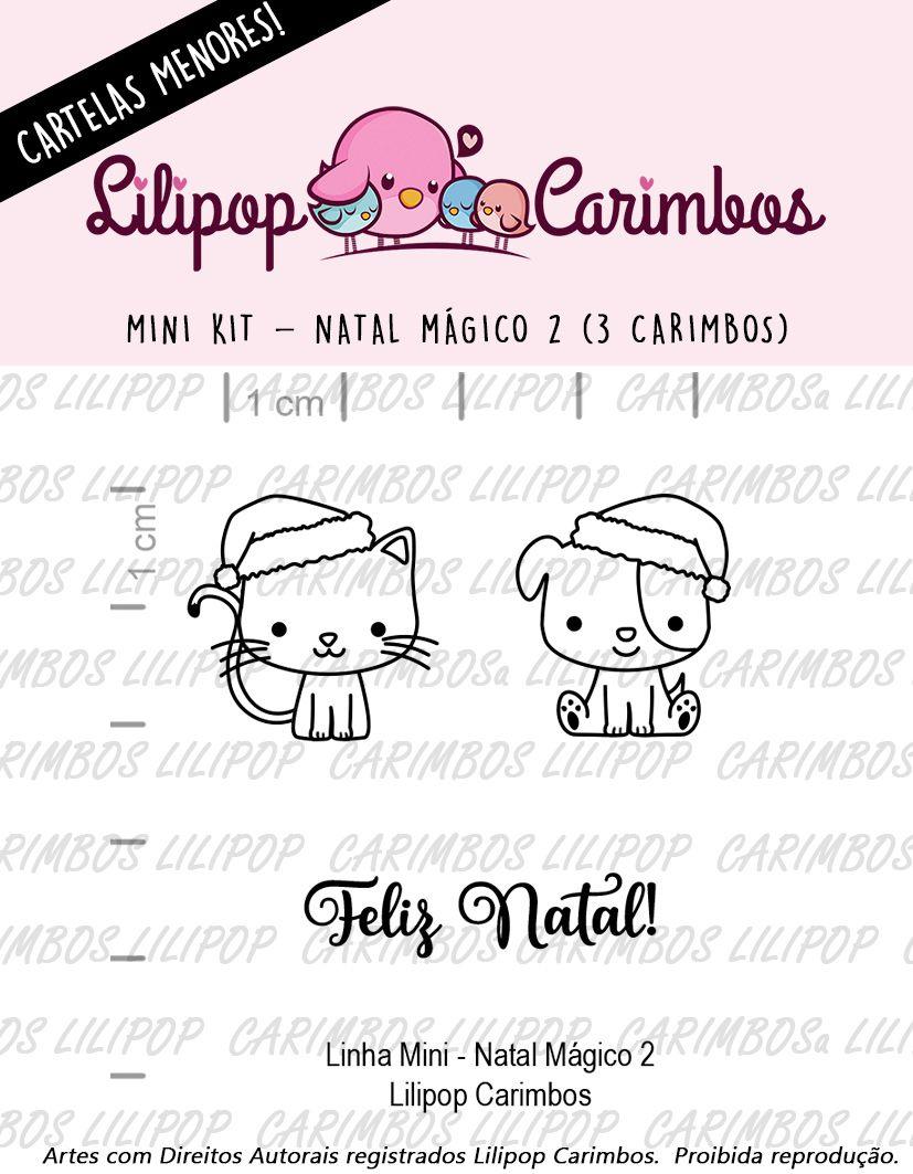 LINHA MINI - Natal Mágico 2 (LILIPOP CARIMBOS)