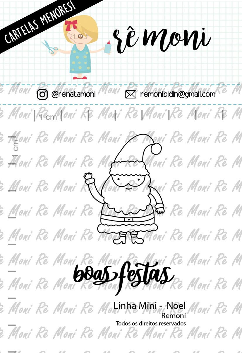 "Cartela de Carimbos Mini - ""Noel"" - Remoni - Remoni (Coleção Natal 2020)  - Lilipop carimbos"