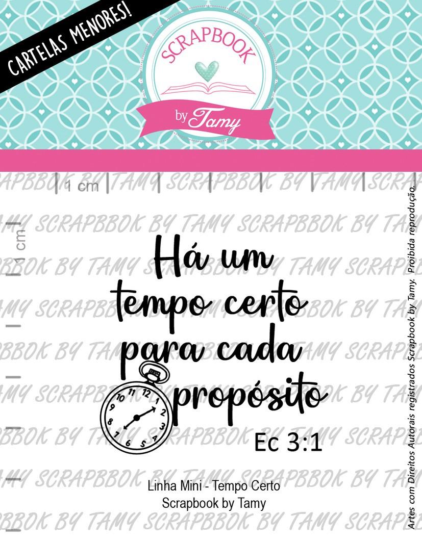 LINHA MINI -  O Tempo Certo  - Scrapbook by Tamy