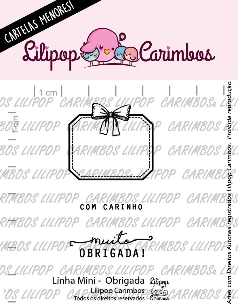 LINHA MINI - Obrigada (Lilipop Carimbos)