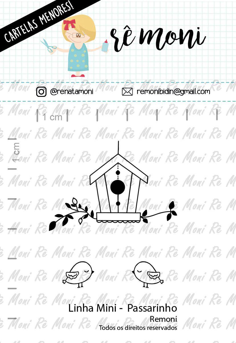 """Cartela de Carimbos Mini - """"Passarinho"""