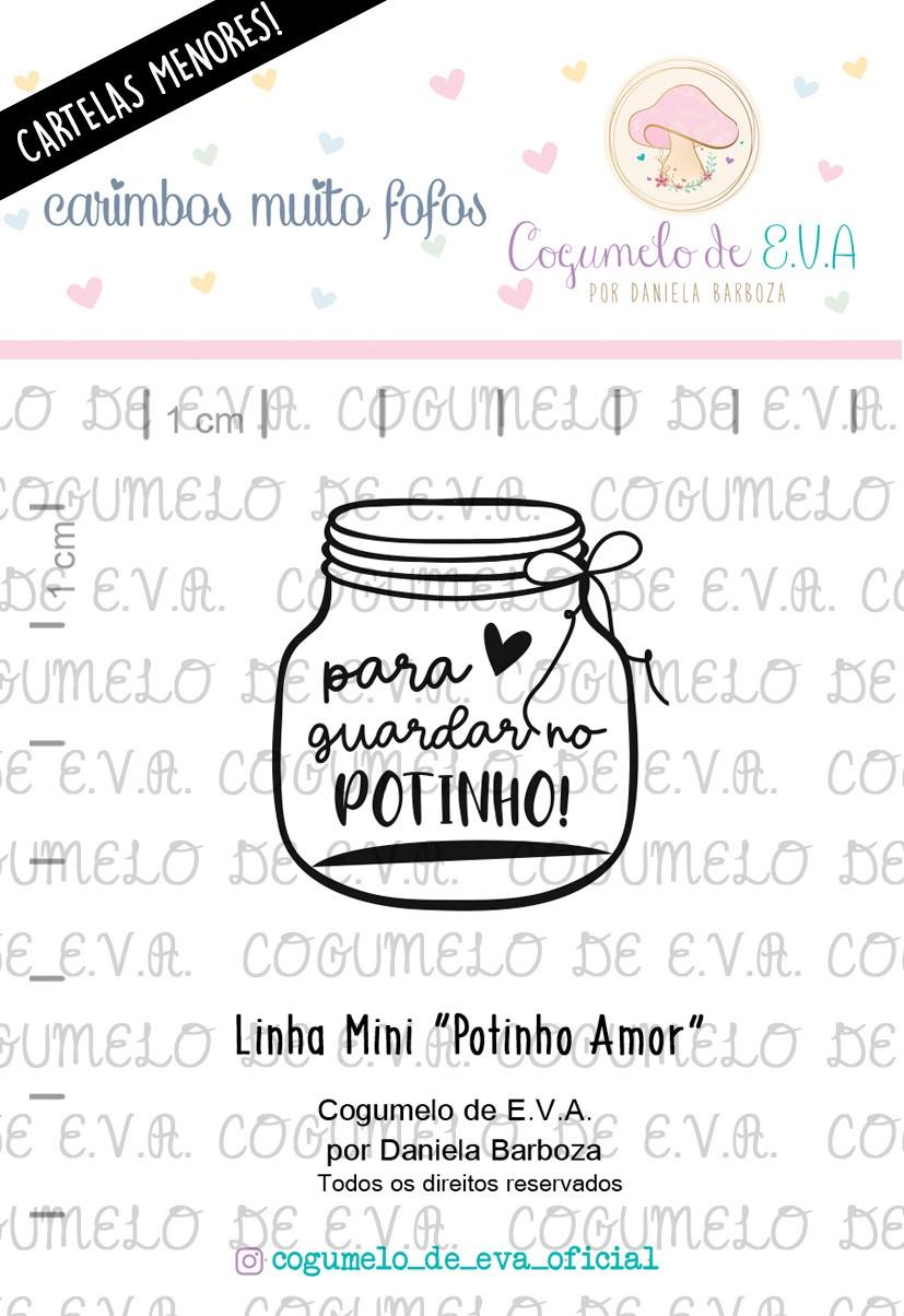 """LINHA MINI - """"Potinho Amor""""   Cogumelo de E.V.A."""