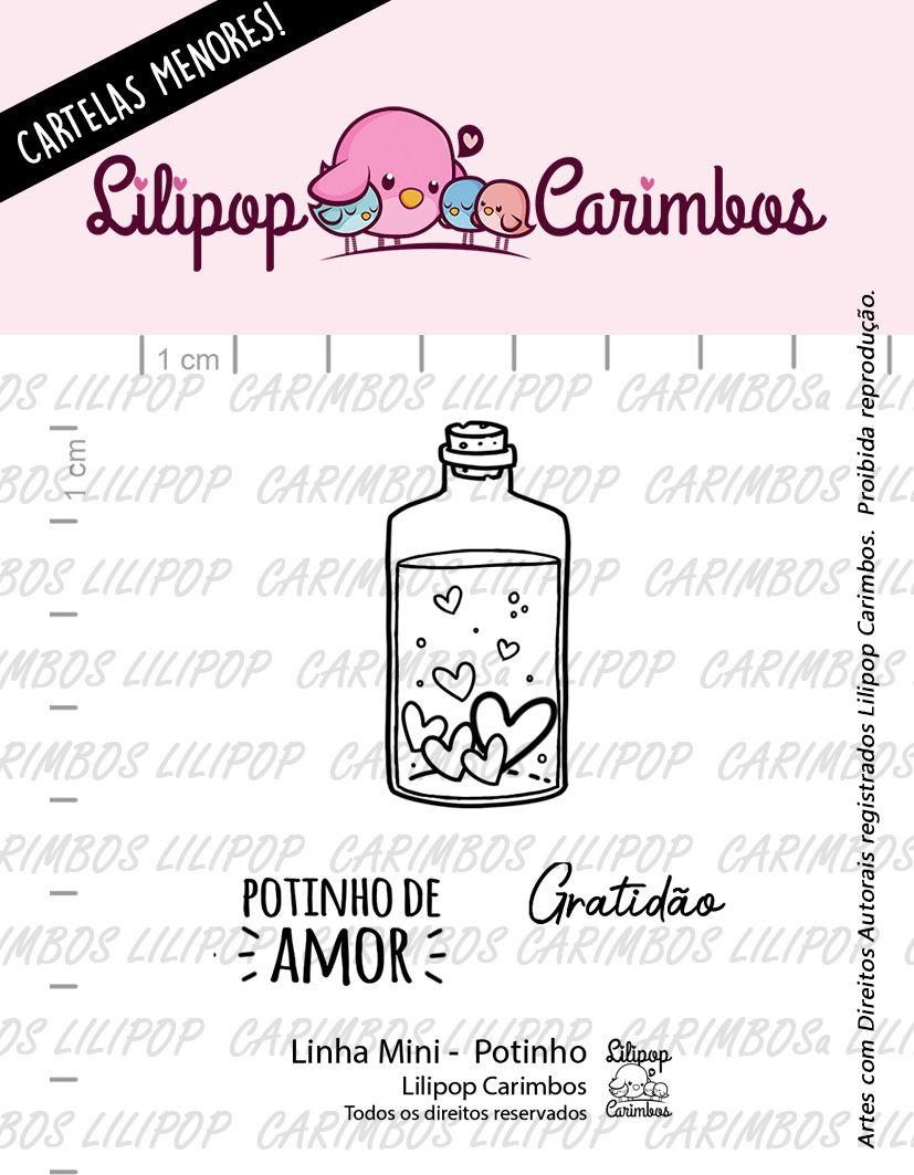 LINHA MINI - Potinho  - Lilipop Carimbos