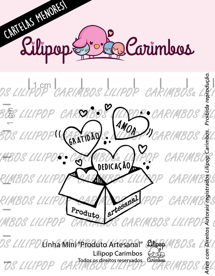"Cartela de Carimbos Mini - ""Produto Artesanal"" - Lilipop Carimbos  - Lilipop carimbos"