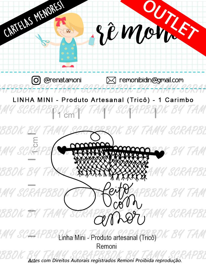 """Cartela de Carimbos Mini - """"Produto Artesanal Tricô """"- Remoni  - Lilipop carimbos"""